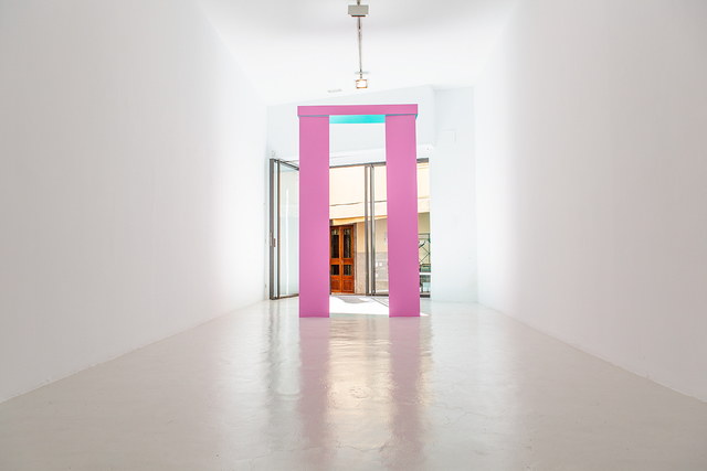 Madeleine Boschan, 'Turning a disc and, in turn, being turned as well, (light pink and turquoise)', 2015, Galeria Maior