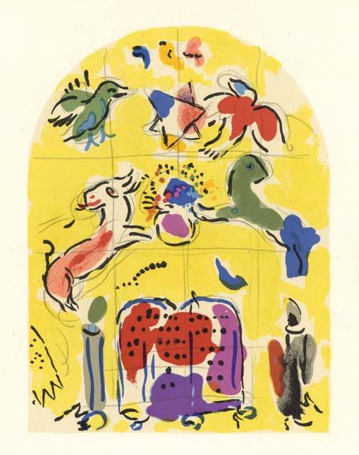 Marc Chagall, 'The Jerusalem Windows: Levi Sketch', 1962, Print, 20 Color Stone Lithographe, Inviere Gallery