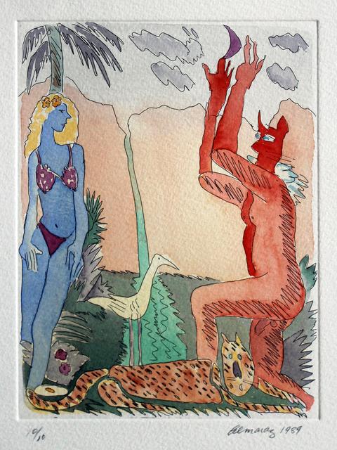 Carlos Almaraz, 'Untitled (From the Moonlight Theater Series)', 1989, Robert Berman Gallery