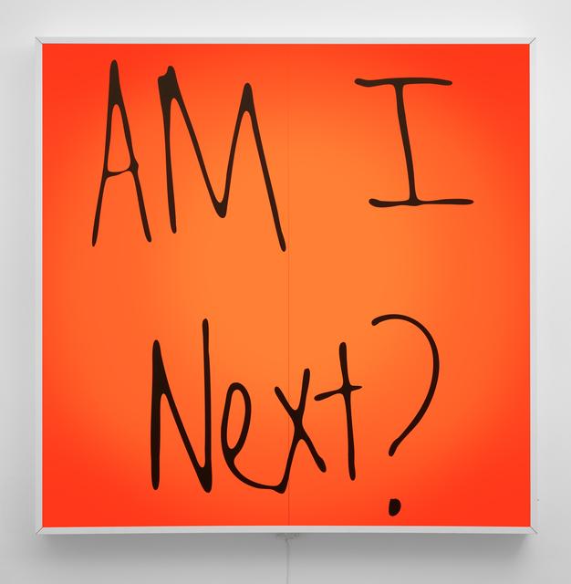 , 'Am I Next?,' 2017, PRAZ-DELAVALLADE
