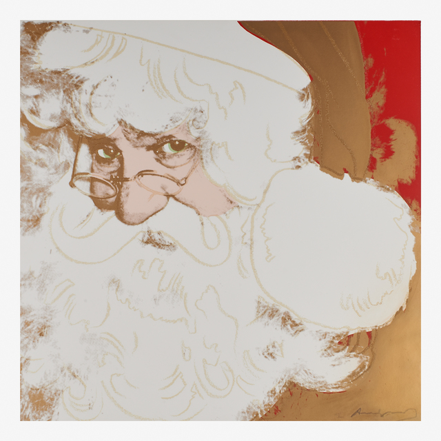 Andy Warhol, 'Santa Claus from the Myths portfolio', 1981, Print, Screenprint in colors with diamond dust on Lenox Museum board, Rago/Wright