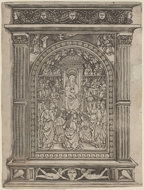 after Maso Finiguerra, 'The Virgin and Child Enthroned, with Angels and Saints', 1450/1470, Print, Niello print, National Gallery of Art, Washington, D.C.