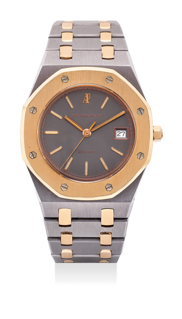 Audemars Piguet, 'A well-preserved and rare tantalum and pink gold wristwatch with sweep center seconds, date, bracelet and original hang tag', 1991, Phillips