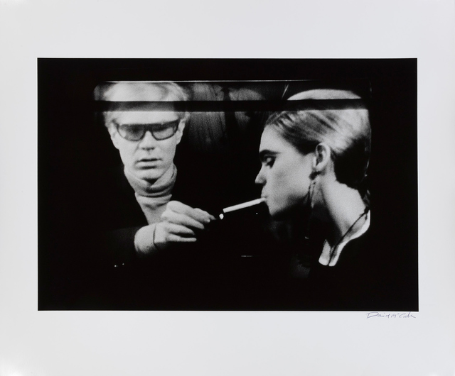 , 'Andy Warhol Lighting Cigarette for Edie Sedgwick on a Norelco Monitor, New York,' 1965, Gagosian