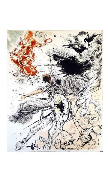 "Salvador Dalí, 'Original Lithograph ""Don Quixote VI"" by Salvador Dali', 1957, Galerie Philia"