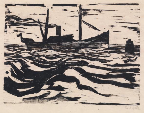 Emil Nolde, 'FISCHDAMPFER', 1910, Print, Woodcut, Jörg Maass Kunsthandel