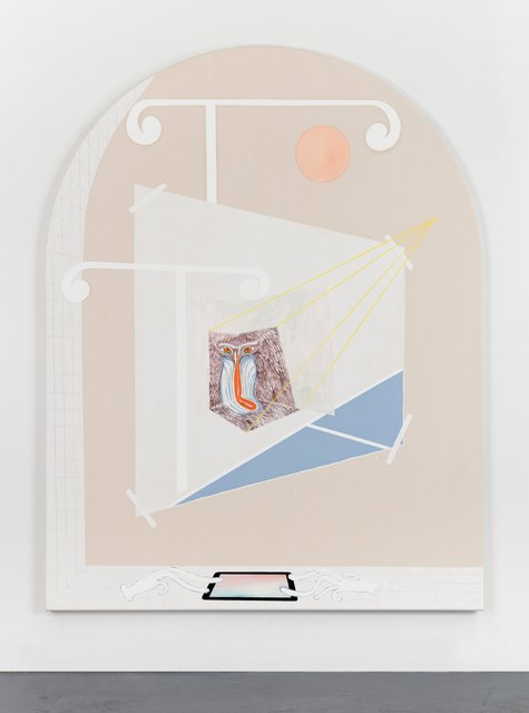 """Florian Meisenberg, 'From the Series: """"Of Defective Gods & Lucid Dreams (The Museum is Closed for Renovation)', 2017, Painting, Oil, transparent and white gesso, iridescent acrylic paint on canvas, Wentrup"""