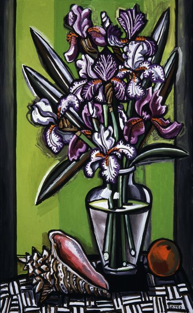 David Bates, 'Purple Iris and Shell', 2003, Talley Dunn Gallery