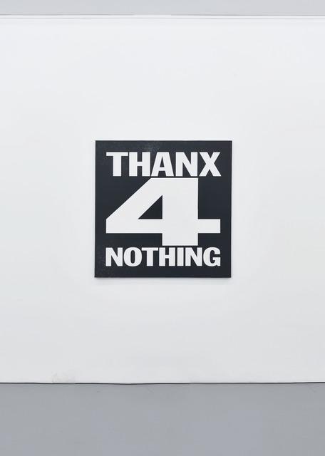 , 'THANX FOR NOTHING,' 2012, Palais de Tokyo