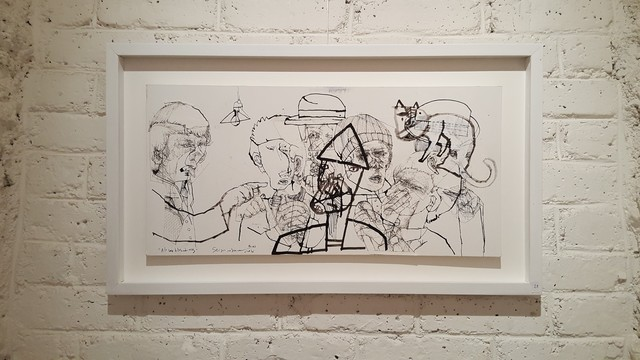 Sergio Moscona, 'Regarding the news', 2017, Drawing, Collage or other Work on Paper, Drawing with India Ink and collages on paper, Galerie Claire Corcia