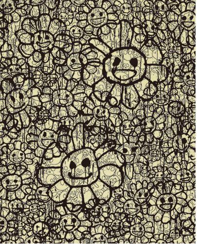 Takashi Murakami, 'Madsaki Flowers A Beige ', 2017, Dope! Gallery