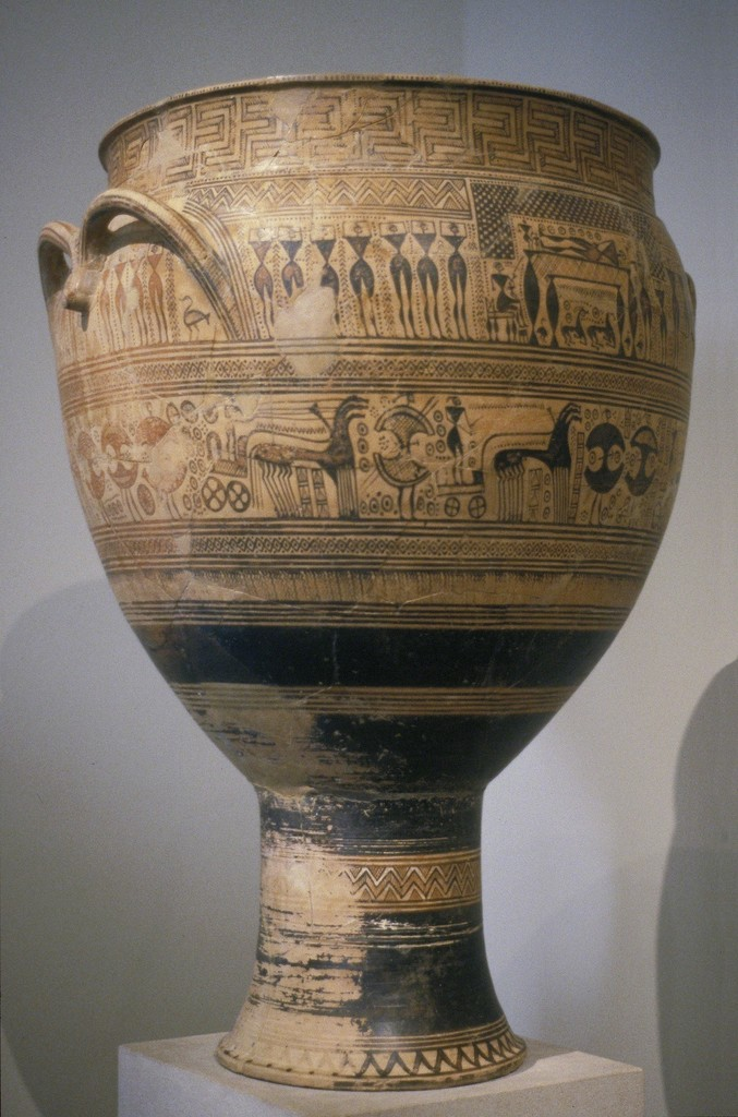 Attributed To The Hirschfield Workshop Funerary Krater Ca 750