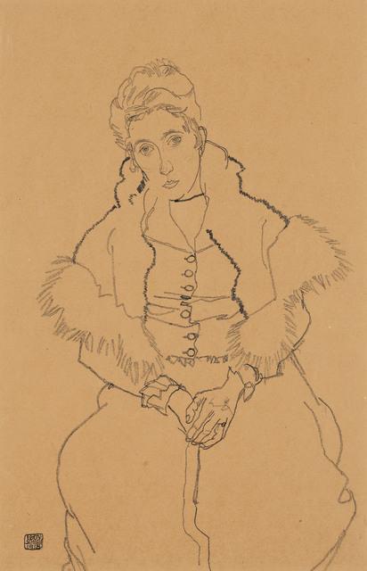, 'Edith Schiele Sitting with Fur Boa,' 1915, Galerie Bei Der Albertina Zetter
