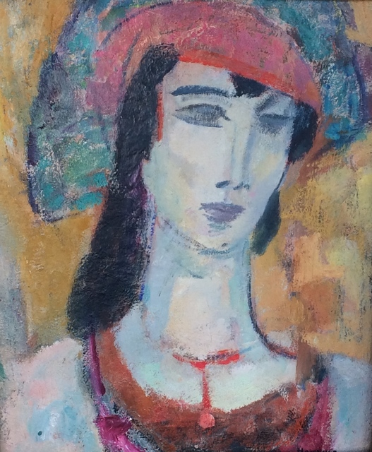 Gerrit Hondius, 'Woman With Hat', ca. 1950, The Michael Thomas Collection