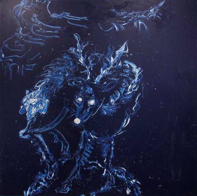, 'Deep Blue White Deer,' 2013, Tang Contemporary Art