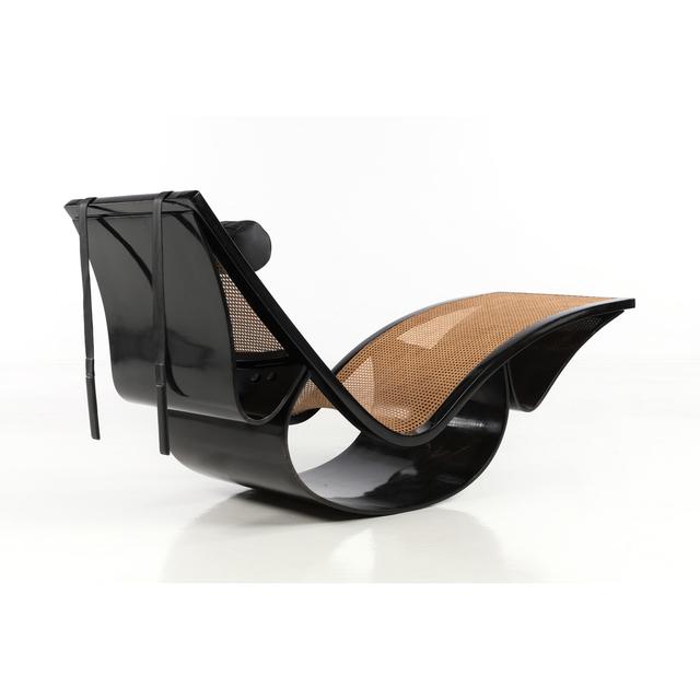 Oscar Niemeyer, 'Rio - Deckchair rocking', circa 1977, Design/Decorative Art, Verni, cannage, cuir et métal, PIASA