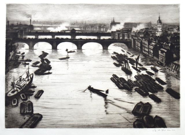 , 'London Bridges ,' ca. 1920, Gerrish Fine Art