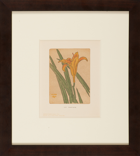 Arthur Wesley Dow, 'Ipswich Prints: Lily', 1901, Rago