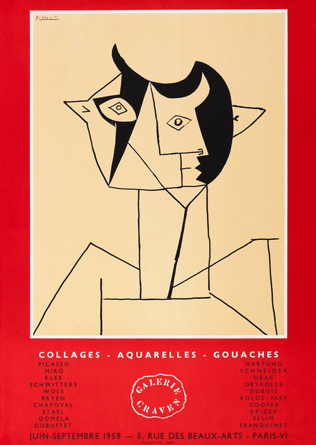 , 'Collages - Aquarelles - Gouaches,' 1958, Zuleika Gallery