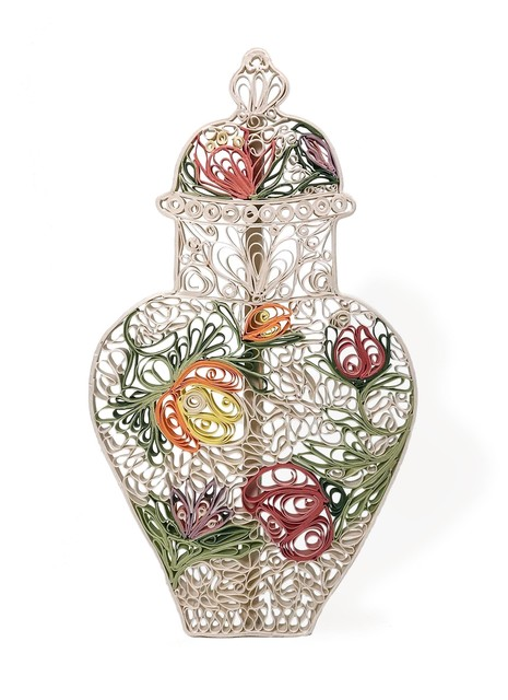 , 'Quilled Meissen Vase, Indianische Blumen,' 2018, Eutectic Gallery