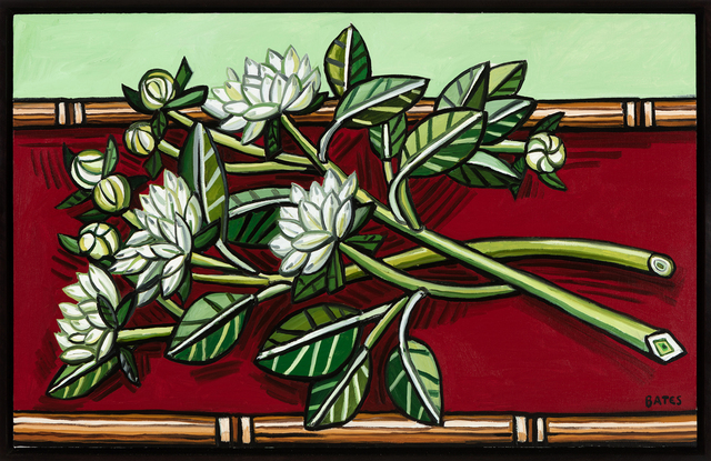 , 'Dahlias on Red Table,' 2016, Talley Dunn Gallery