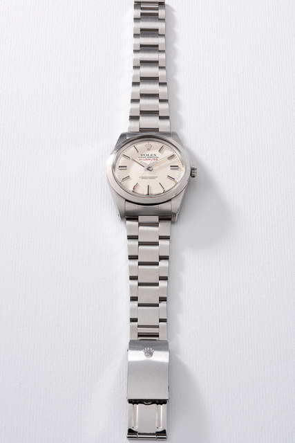 Rolex, 'A fine and rare stainless steel anti-magnetic wristwatch with sweep center seconds, additional Rolex Jubilee bracelet, gurantee and box', Circa 1979, Phillips