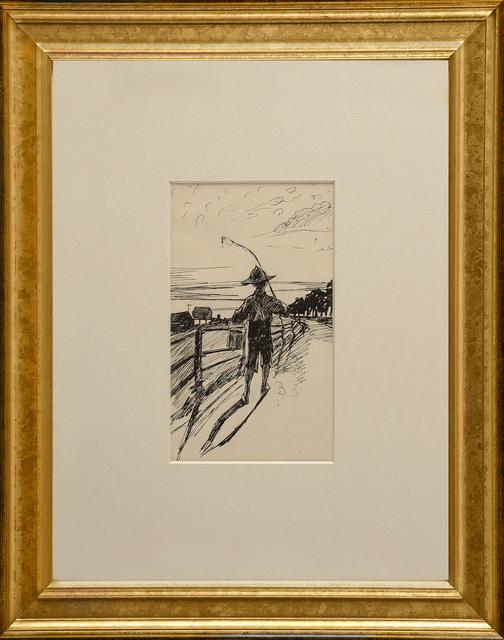 Edward Hopper, 'Fisherboy', ca. 1900, Thurston Royce Gallery of Fine Art, LTD.