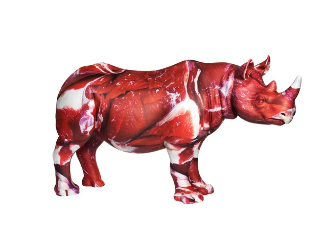 Marc Quinn, 'On Cognizance', 2018, Sculpture, Rhino: fibreglass rhino (fire retardant) with internal armature Finish: Paint and hand applied bespoke designed vinyl images, Tusk Benefit Auction