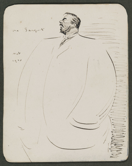 , 'Sketch of John S. Sargent,' , Museum of Fine Arts, Boston