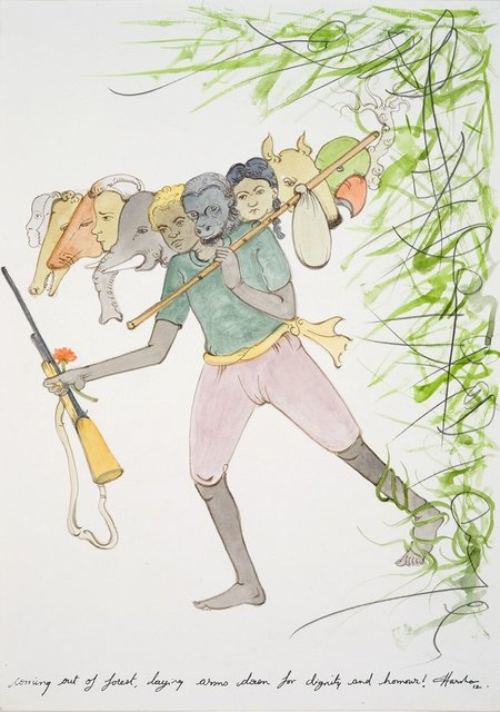 N.S. Harsha, 'Coming out of forest, laying arms down for dignity and honour!', 2012, Victoria Miro