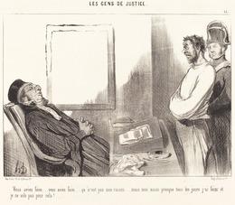 Honoré Daumier, 'Vous aviez faim... ce n'est pas une raison...', 1845, National Gallery of Art, Washington, D.C.