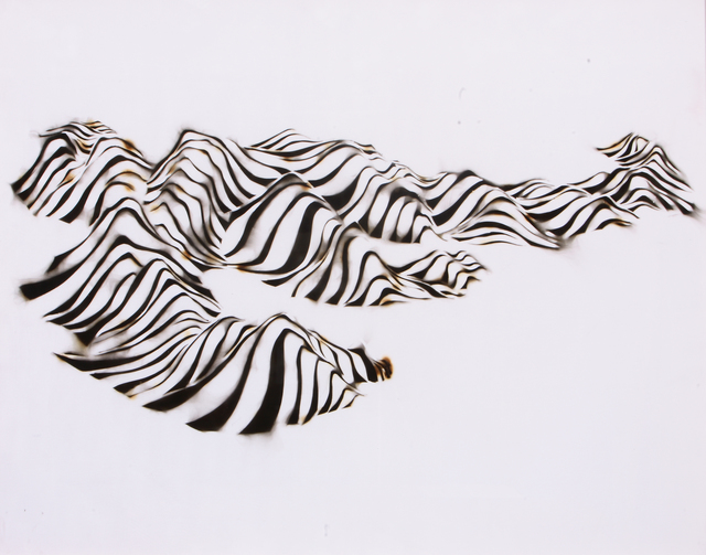 Pamen Pereira, 'Antarctic Mountain Range', 2008, Painting, Smoke on velvet, SET ESPAI D'ART