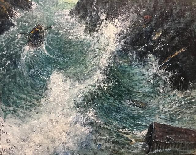 , 'Tempest (Study #2),' 2019, Catharine Clark Gallery