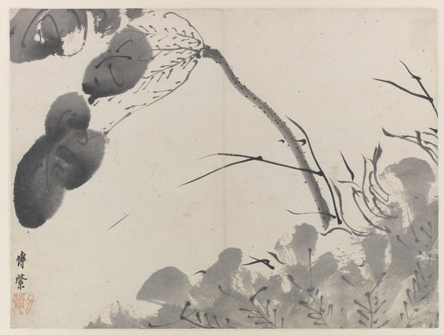 , 'Lotus,' Qing dynasty-ca. 1665, Smithsonian Freer and Sackler Galleries