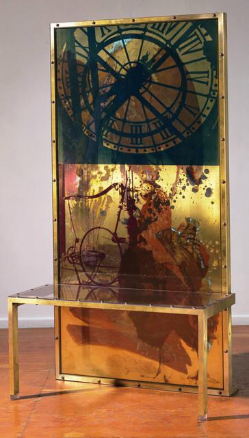 Robert Rauschenberg, 'Borealis Shares I', 1990, Sculpture, Screenprinted bass with handpainted patina and lexan, Gemini G.E.L.