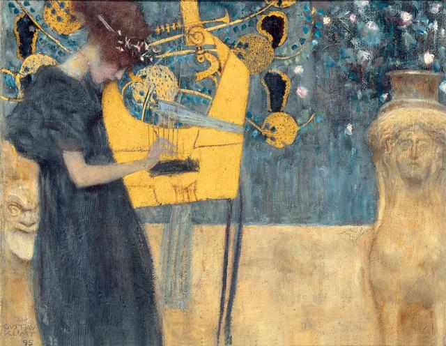 , 'Music (study),' 1895, Belvedere Museum
