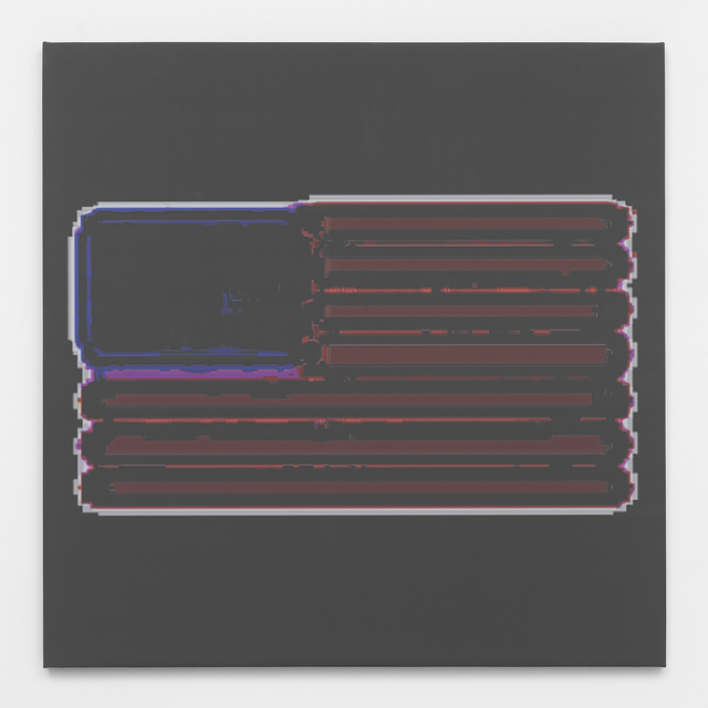 , 'Layer File Flag,' 2014, Feuer/Mesler