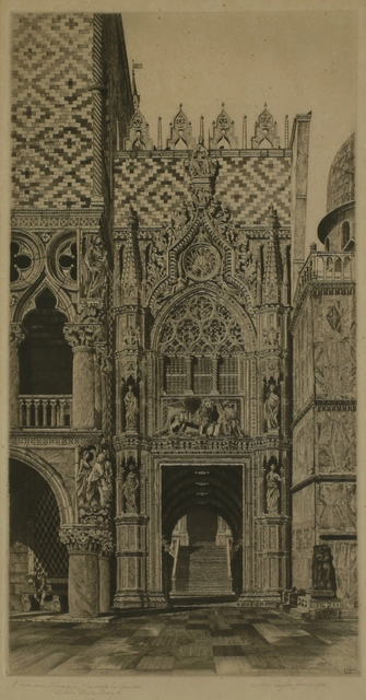 John Taylor Arms, 'Enchanted Doorway, Porta della Carta, Venice', 1930, Private Collection, NY