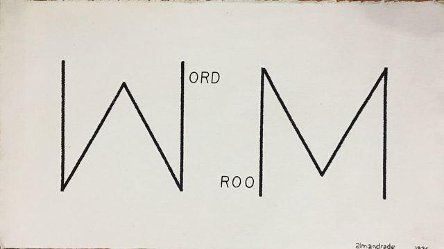 , 'Word Room,' 1976, Baró Galeria