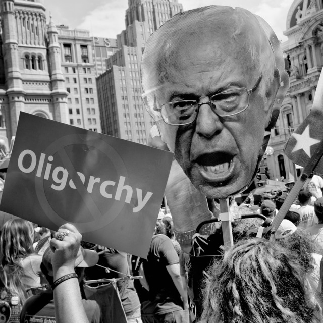 , 'Bernie Sanders supporters protest at the Democratic National Convention.,' 2016, Magnum Photos