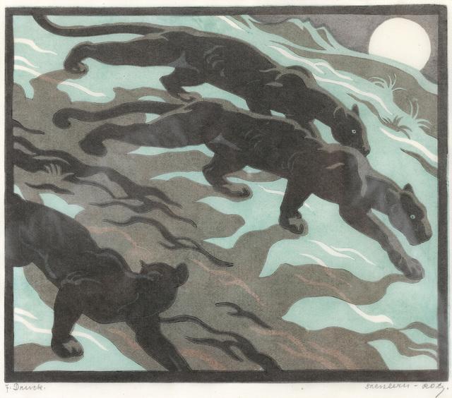 , 'Shadows (Black Panthers),' 1934, Galerie Bei Der Albertina Zetter