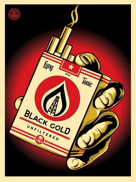 Shepard Fairey, 'Black Gold', 2015, AYNAC Gallery
