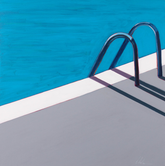 , 'Pool With Chrome Steps,' 2017, Caldwell Snyder Gallery