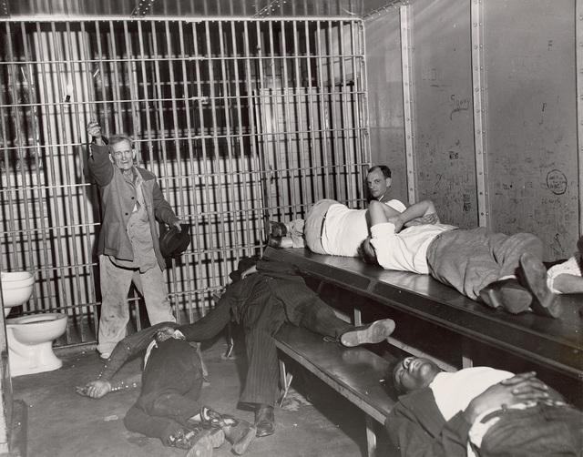 Weegee, 'Drunk Tank', 1950s, Phillips