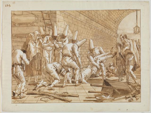 Giovanni Domenico Tiepolo, 'The Burial of Punchinello', ca. 1800, The Metropolitan Museum of Art