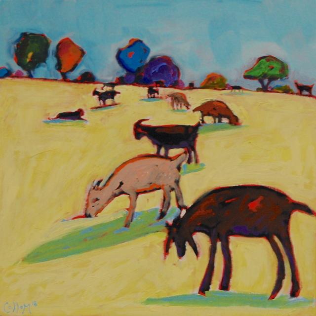 , 'Meadow Goats,' 2018, Tim Collom Gallery