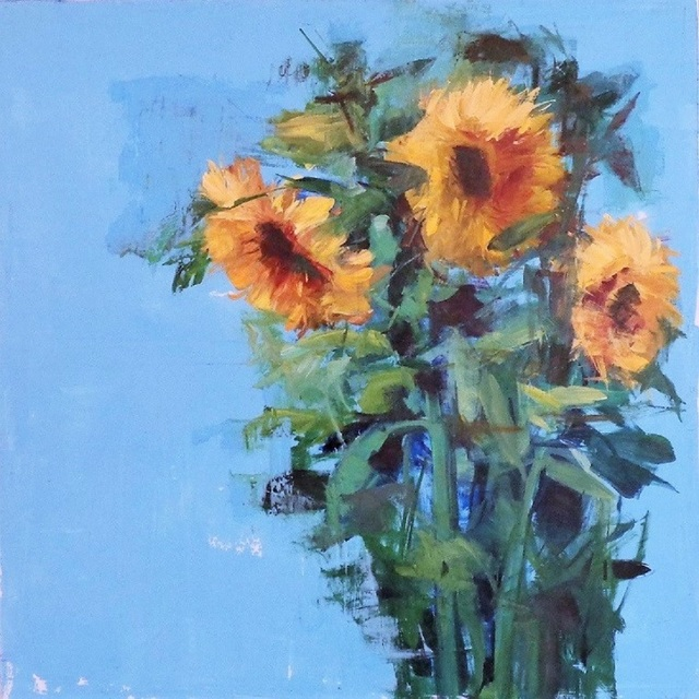 Carmelo Blandino, 'Sunflowers in a Field', 2014, Painting, Acrylic on canvas, Galerie Sono