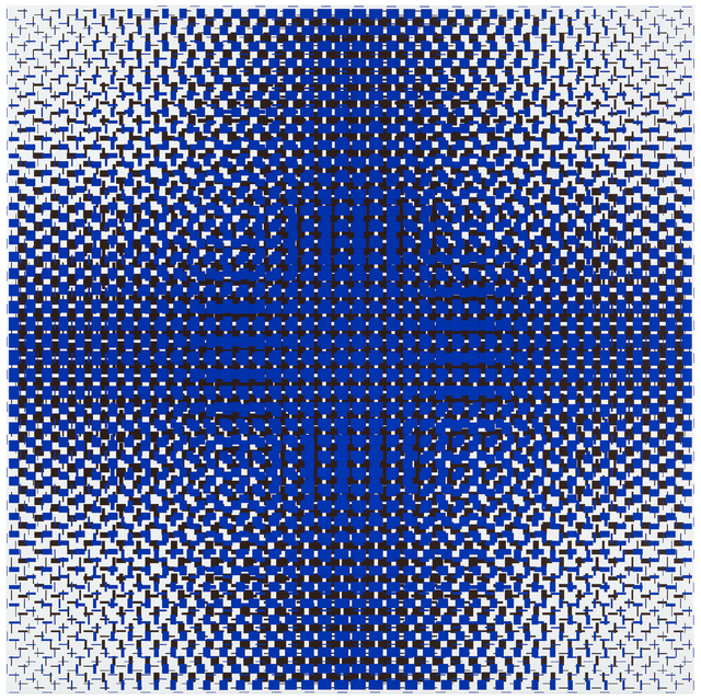 , 'blue-brown,' 2017, Galerie Denise René
