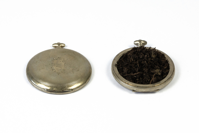Nicolas Vionnet, 'Always Let The Dust Settle First', 2019, Painting, Vintage pocket watches, potting soil, Alfa Gallery