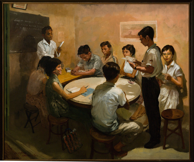 Chua Mia Tee, 'National Language Class', 1959, National Gallery Singapore